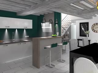 Cozinhas embutidas  por AURELIE BENARD ARCHITECTE