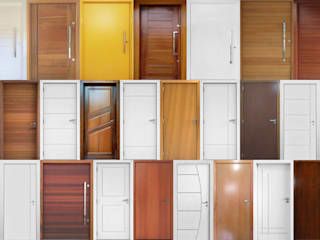 Portas de madeira de alto padrão sob medida por Portas Jaraguá Moderno