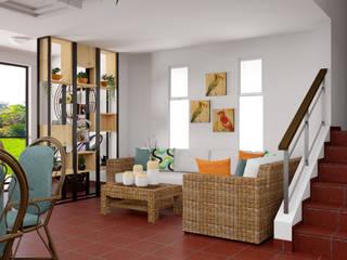Diseño Interior - Casa campo:  de estilo tropical por Qbico Design, Tropical