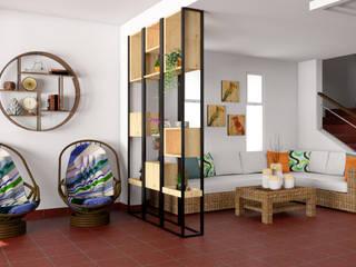 Qbico Design 牆壁與地板牆壁裝飾 實木 Brown