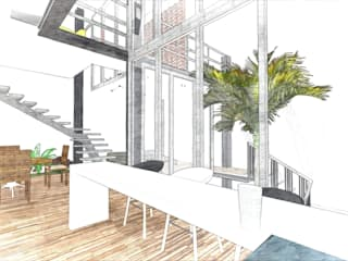 Phòng học/văn phòng phong cách hiện đại bởi Dmas Arquitectura Hiện đại