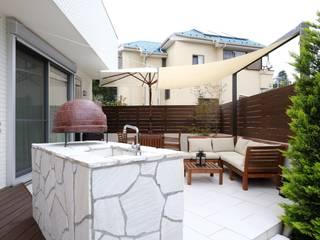 アジアンリゾートなプライベートテラ 東京都 日本家屋・アジアの家 の (株)風知蒼 和風