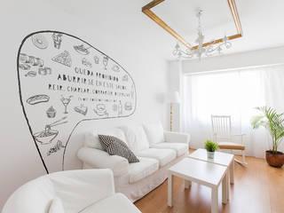 Salón: Salones de estilo  de Imaisdé Design Studio