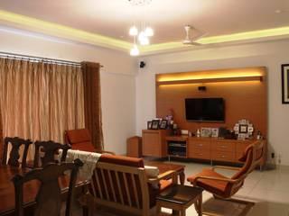 RESIDENTIAL 3BHK -LOCATION : PUNE Modern living room by YAAMA intart Modern