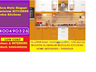 ALUMINIUM KITCHEN CABINETS BANGALORE   |  LOW COST APARTMENT KITCHENS | Call 9400490326: classic  by Bangalore ALUMINIUM MODULAR KITCHEN BANGALORE - LOW COST- PH 9400490326,Classic