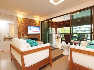 Apartamento em Fortaleza para férias: Salas de estar  por RI Arquitetura