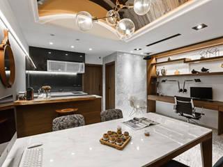 茶水間:  書房/辦公室 by 京彩室內設計裝修工程公司