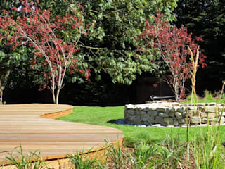 Modern native landscape design large family garden Jardines de estilo rural de MyLandscapes Garden Design Rural