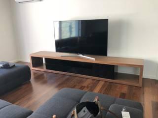 Decordesign Interiores SalasMuebles de televisión y dispositivos electrónicos Madera Negro