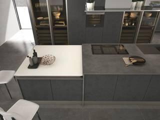 Modelos de cozinhas com ilha , península ou mesa refeições:   por area design interiores
