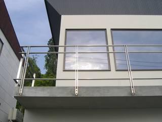 山の手の展望ガレージハウス モダンデザインの テラス の アウラ建築設計事務所 モダン