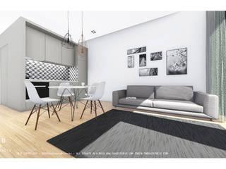 Reabilitação de edifício antigo - Portinho residence Salas de estar modernas por OGGOstudioarchitects, unipessoal lda Moderno