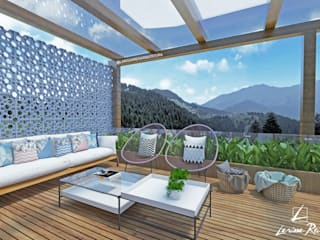 Balcones y terrazas de estilo moderno de LARISSA REIS ARQUITETURA Moderno
