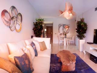 Diseño Interiores Alicate playa: Salones de estilo  de DC PROJECTS
