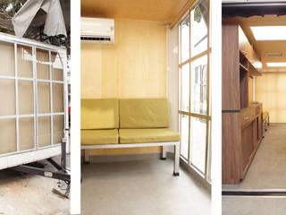 Oficina Móvil: Estudios y oficinas de estilo moderno por Escaleno Taller de Diseño