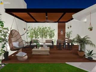 Área social exterior: Terrazas de estilo  por Gaby Cons Deco & Handmade