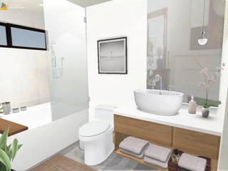 Baño principal: Baños de estilo  por Gaby Cons Deco & Handmade
