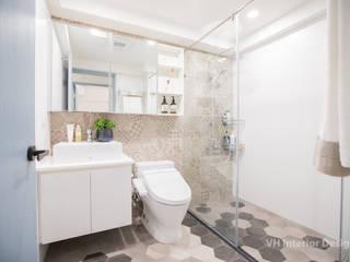 板橋施公館 現代浴室設計點子、靈感&圖片 根據 VH INTERIOR DESIGN 現代風