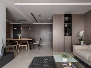 Modern living room by 双設計建築室內總研所 Modern