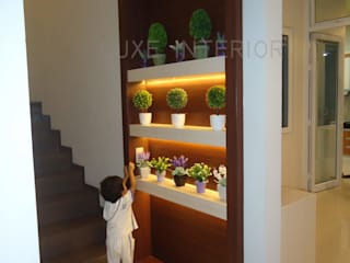 luxe interior Corridor, hallway & stairsAccessories & decoration Plywood Multicolored