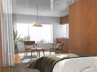 アパートメントT: 平野崇建築設計事務所 TAKASHI HIRANO ARCHITECTSが手掛けたリビングです。