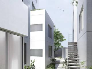 アパートメントT: 平野崇建築設計事務所 TAKASHI HIRANO ARCHITECTSが手掛けた庭です。