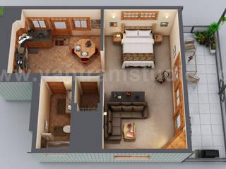 Small House Floor Plan Design Ideas by Yantram 3d Floor Plan Software, Chicago - USA Yantram Architectural Design Studio