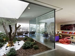 Proyecto arquitectónico. Construcción de una vivienda en Kwait Jardines de invierno de estilo moderno de AGi architects arquitectos y diseñadores en Madrid Moderno Vidrio