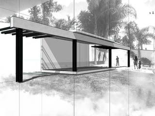 Terrasse de style  par NIKOLAS BRICEÑO arquitecto, Moderne