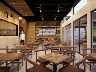 Comedor: Restaurantes de estilo  por SRA arquitectos
