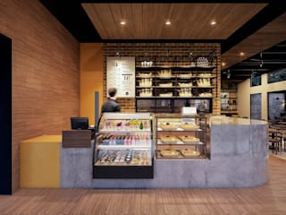 barra: Restaurantes de estilo  por SRA arquitectos