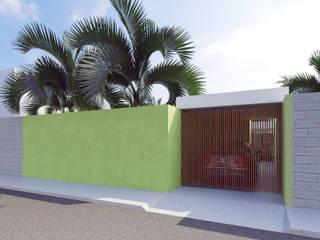 fachada: Casas unifamiliares de estilo  por SRA arquitectos