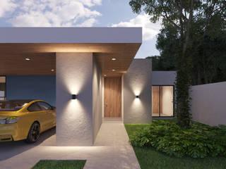 acceso: Casas unifamiliares de estilo  por SRA arquitectos