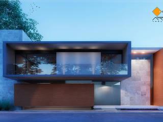 Casa Mor: Casas de estilo  por ARMEN Arquitectos