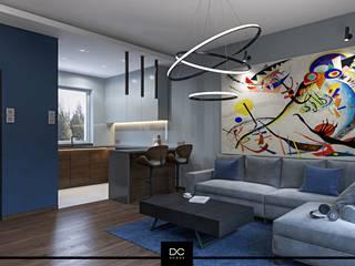 DCODE Emilia Krysińska Projektowanie Wnętrz i Architektura Modern living room Grey