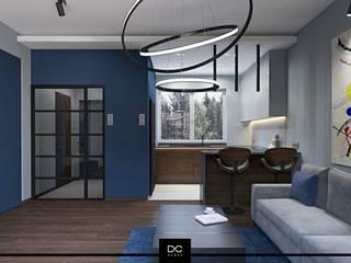 DCODE Emilia Krysińska Projektowanie Wnętrz i Architektura Modern living room Blue