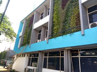Vertical Garden Surabaya Alam Asri Landscape Halaman depan Besi/Baja Green