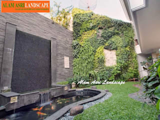Jasa Pembuat Kolam Koi Surabaya Alam Asri Landscape Kolam taman Batu Bata Green