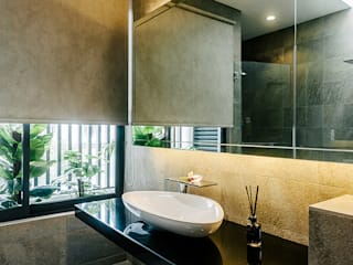 The Grove, Lakefield Asian style bathrooms by Studio BEVD Asian