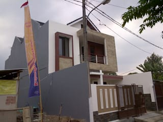 Perspektif Tampak Samping Kiri Bangunan Oleh homify Modern