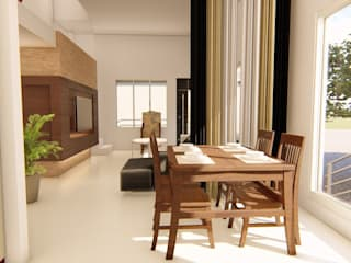 Interiors:  Dining room by SBA