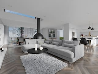 Sala de Estar: Salas de estar modernas por AES - Arquitectura Engenharia e Serviços