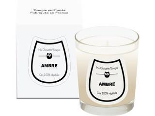 Bougie parfumée Ambre en verre transparent:  de style  par Ma Chouette Bougie