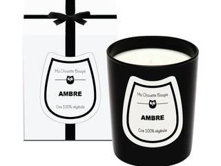 Bougie parfumée Ambre en verre noir:  de style  par Ma Chouette Bougie
