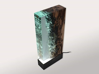 Wood Night Lamp Art: eclectic  by Classy Interno,Eclectic