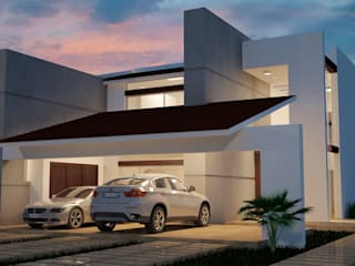 Residencia M1: Casas de estilo moderno por IB Arquitectos
