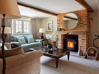 Surrey cottage Country style living room by niche pr Country