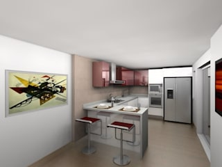 Nowoczesna kuchnia od Erick Becerra Arquitecto Nowoczesny