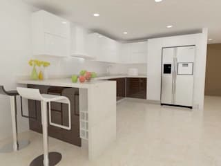 Erick Becerra Arquitecto Modern style kitchen