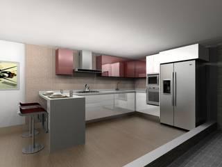 Cuisine moderne par Erick Becerra Arquitecto Moderne